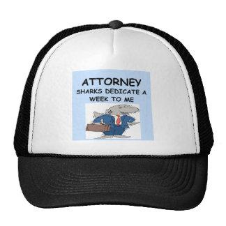ATTORNEY TRUCKER HAT