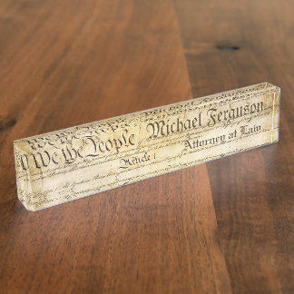Attorney United States Constitution Name Plate