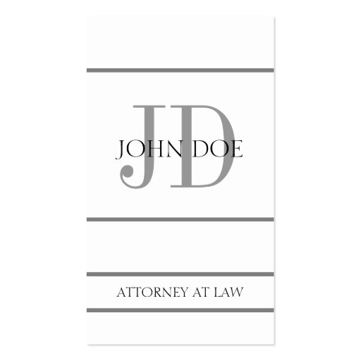 Attorney Vertical W/W Business Card Template