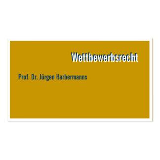 Attorney Visitenkarte Business Card