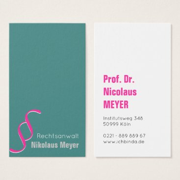 Lawyer Themed Attorney Visitenkarten Business Card