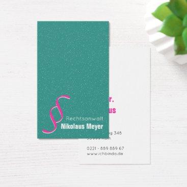 Lawyer Themed Attorney Visitenkarten Mint Weis Business Card