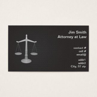 Attorney white scales business card
