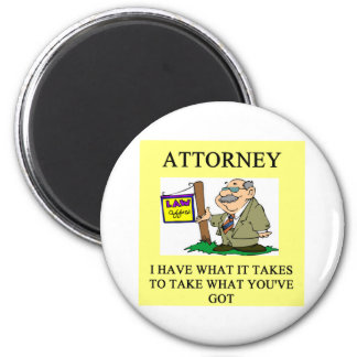 attorneys and lawyers joke 2 inch round magnet