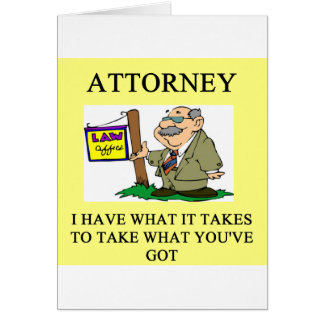 attorneys and lawyers joke card