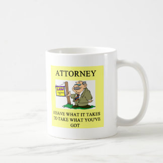 attorneys and lawyers joke coffee mug