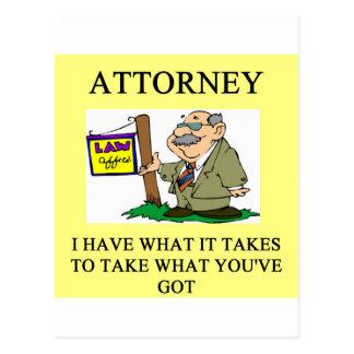 attorneys and lawyers joke postcard