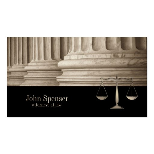 Attorneys At Law Corinthian Column Business Card