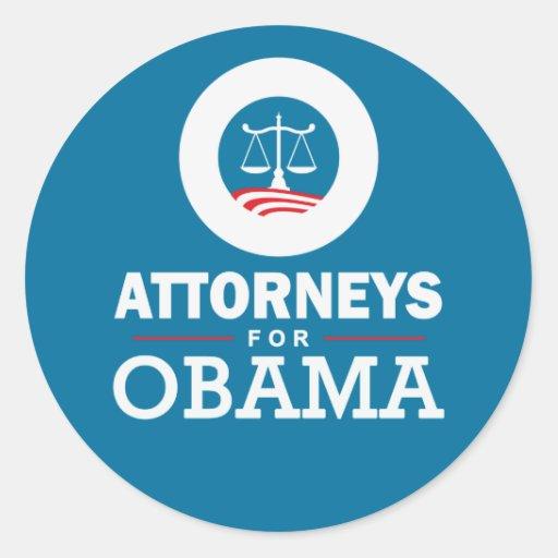 Attorneys for Obama Classic Round Sticker