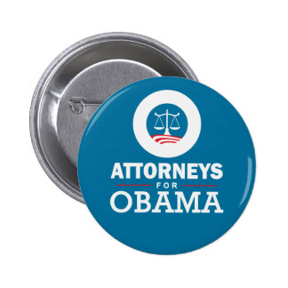 Attorneys for Obama Pinback Button