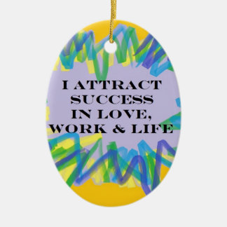 Attract Success Christmas Ornaments