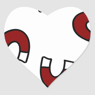 Attracted Heart Sticker