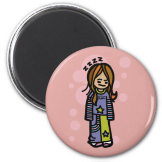 attracted to life under the covers. fridge magnet
