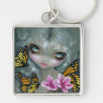 butterfly, fairy, big, eye, big eyed fairy, jasmine, becket-griffith, rococo, baroque, strangeling, monarch butterfly, butterflies, blossom, flower, flowers, beauty, eyes, big eye, big eyed, becket, griffith, jasmine becket-griffith, beckett, jasmin, artist, goth, gothic, gothic fairy, faery, fairies, faerie, fairie, lowbrow, low brow, big eyes, strangling, fantasy art, original, lowbrow art, pop, Keychain with custom graphic design