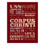 Attraction & Famous Places of Corpus Christi, TX Poster