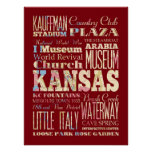 Attraction & Famous Places of Kansas, Kansas Poster