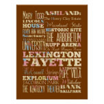 Attraction & Famous Places of Lexington Fayette,KY Poster