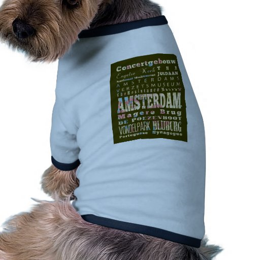 Attractions and Famous Places of Amsterdam Dog Tee Shirt