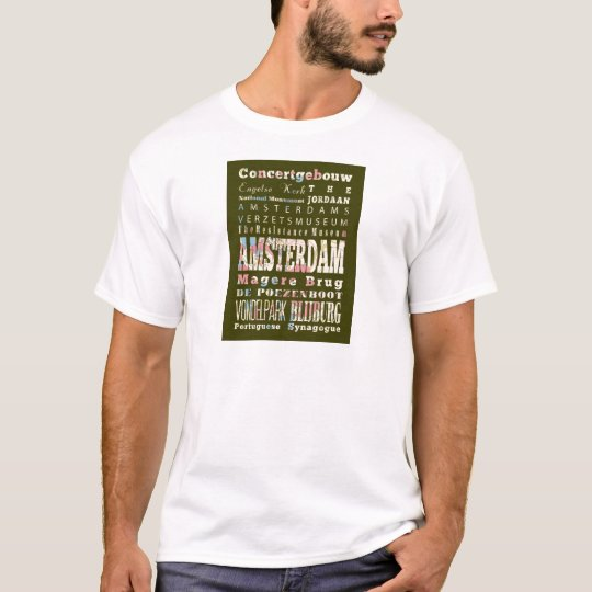 Attractions and Famous Places of Amsterdam T-Shirt