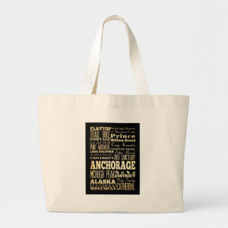 Attractions and Famous Places of Anchorage, Alaska Canvas Bag
