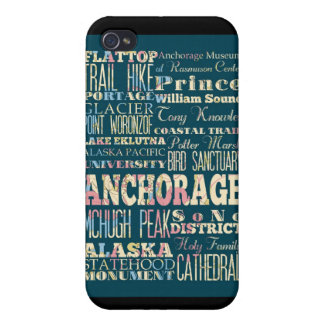 Attractions and Famous Places of Anchorage, Alaska Cover For iPhone 4