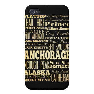 Attractions and Famous Places of Anchorage, Alaska Cases For iPhone 4