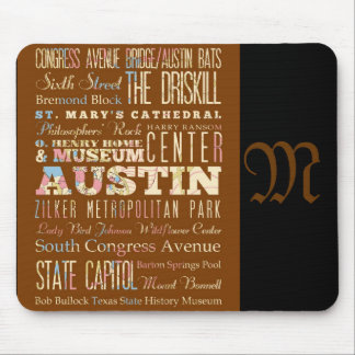 Attractions and Famous Places of Austin, Texas Mouse Pad