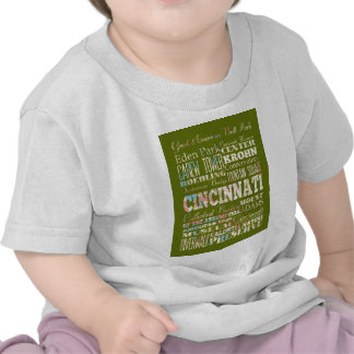 Attractions and Famous Places of Cincinnati, Ohio T-shirts