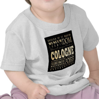 Attractions and Famous Places of Cologne, Germany T Shirt