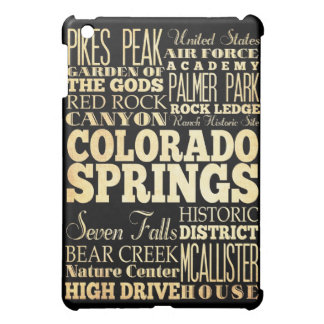 Attractions and Famous Places of Colorado iPad Mini Cover