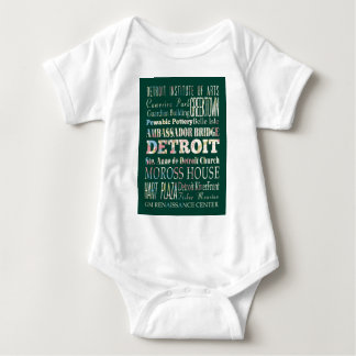 Attractions and Famous Places of Detroit, Michigan Baby Bodysuit
