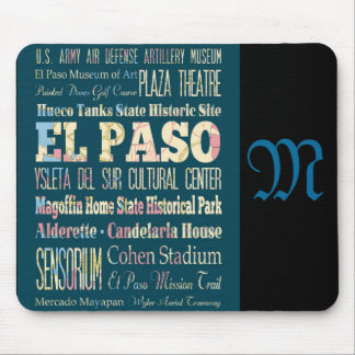 Attractions and Famous Places of El Paso, Texas Mouse Pad