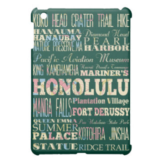 Attractions and Famous Places of Honolulu, Hawaii iPad Mini Cases