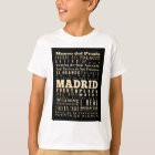 Attractions and Famous Places of Madrid, Spain T-Shirt