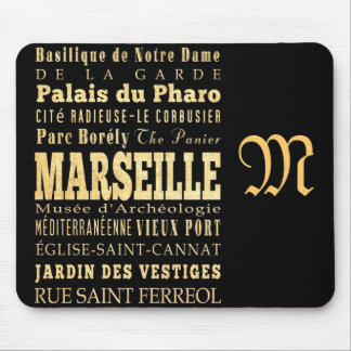 Attractions and Famous Places of Marseille, France Mouse Pad