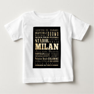 Attractions and Famous Places of Milan, Italy Baby T-Shirt