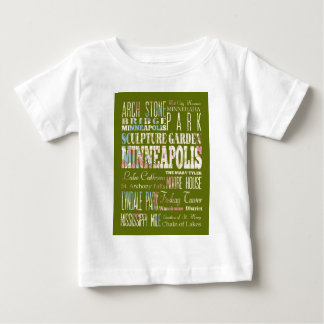Attractions and Famous Places of Minneapolis Baby T-Shirt