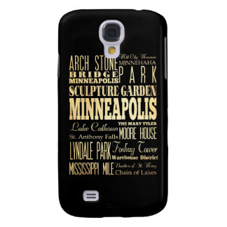 Attractions and Famous Places of Minneapolis Galaxy S4 Case