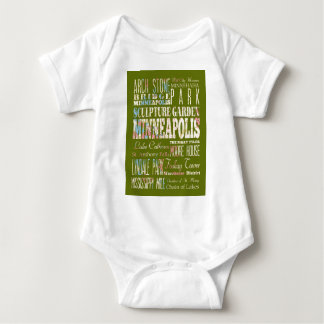 Attractions and Famous Places of Minneapolis T Shirt