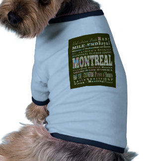 Attractions and Famous Places of Montreal, Canada Dog Clothing