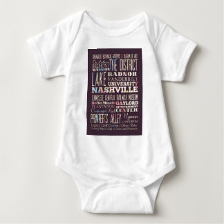 Attractions and Famous Places of Nashville Baby Bodysuit