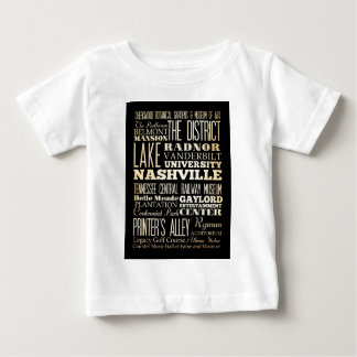 Attractions and Famous Places of Nashville Baby T-Shirt