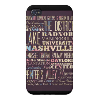 Attractions and Famous Places of Nashville iPhone 4 Cover