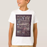 Attractions and Famous Places of Nashville T-Shirt
