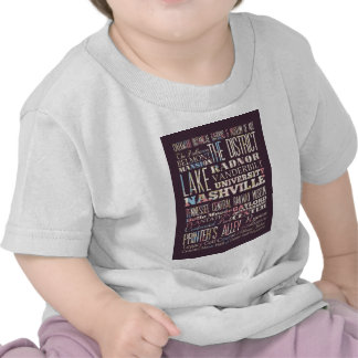 Attractions and Famous Places of Nashville Tshirt