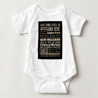 Attractions and Famous Places of New Orleans Baby Bodysuit