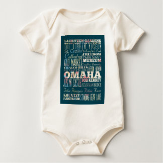 Attractions and Famous Places of Omaha, Nebraska Baby Bodysuit