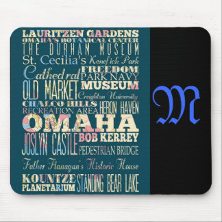 Attractions and Famous Places of Omaha, Nebraska Mouse Pad