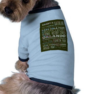 Attractions and Famous Places of Orlando, Florida Doggie Tshirt
