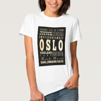 Attractions and Famous Places of Oslo, Norway T-shirt